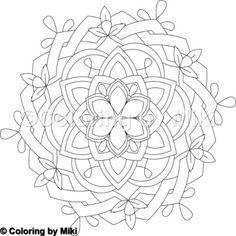 Flower Mandala Coloring Page #14