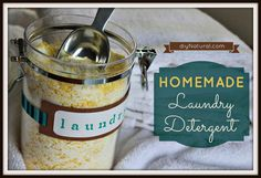 The Original Homemade Laundry Detergent; Making your own homemade laundry detergent [soap] is easy, inexpensive, and effective in both regular and HE washers. Save money and avoid chemicals. Laundry Detergent Recipe, Natural Laundry Detergent, Powder Laundry Detergent, Laundry Powder, Homemade Detergent, Dishwasher Detergent, Homemade Soaps, Diy Soaps, Homemade Cleaning Products