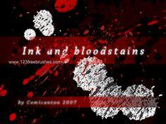 Blood Stain - Download  Photoshop brush http://www.123freebrushes.com/blood-stain-2/ , Published in #BloodSplatter, #GrungeSplatter. More Free Grunge & Splatter Brushes, http://www.123freebrushes.com/free-brushes/grunge-splatter/ | #123freebrushes