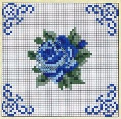 This Pin was discovered by noo Cross Stitch Rose, Cross Stitch Borders, Cross Stitch Flowers, Cross Stitch Charts, Cross Stitch Designs, Cross Stitching, Cross Stitch Patterns, Embroidery Patterns Free, Diy Embroidery