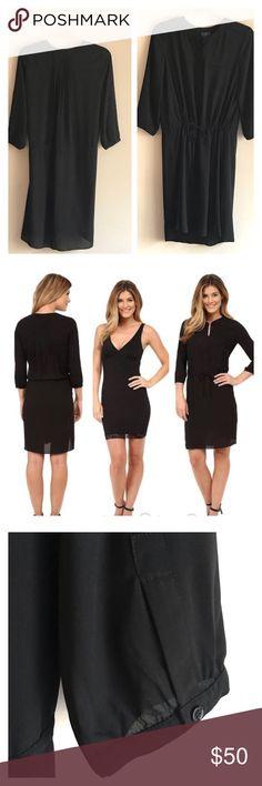 "NYDJ dress with body shaping slip NWT NYDJ dress with body shaping slip NWT size large. Top dress is semi sheer and has an elastic drawstring waist. Shaper slip is detachable.  Slip measurements: underarm to underarm 17"", waist 15"", length 36"".  Dress measurements: underarm to underarm 22"", front length 39"" back length 42"".  All measurements taken flat. NYDJ Dresses Midi"