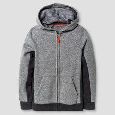 Boys' Cozy Fleece Hooded Sweatshirt Cat & Jack - Gray M, Boy's, Heather Grey