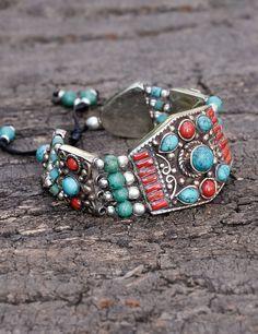 Tibetan Mystic Turquoise Coral Bracelet
