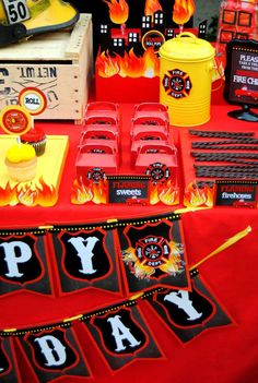 Fire Fighter Birthday Party Ideas | Photo 1 of 112