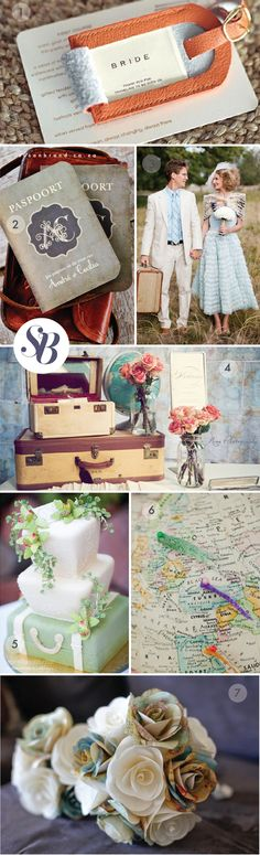 Travel Theme Wedding - © Susan Brand Design #Travel #Theme #Decor Find the best Toronto and the GTA have to offer on thePWG.ca  http://www.theperfectweddingguide.com/wedding_decor.html