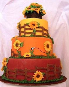10 Really sweet reasons to have a fall wedding. Makes me want to do a retake on ours! Cake Wrecks - Home - Sunday Sweets: Fall Weddings Pumpkin Decorating, Cake Decorating, Decorating Ideas, Beautiful Cakes, Amazing Cakes, Fall Cakes, Fall Theme Cakes, Sunflower Cakes, Cake Wrecks
