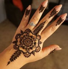 Explore latest Mehndi Designs images in 2019 on Happy Shappy. Mehendi design is also known as the heena design or henna patterns worldwide. We are here with the best mehndi designs images from worldwide. Henna Hand Designs, Eid Mehndi Designs, Henna Flower Designs, Mehndi Designs Finger, Mehndi Designs For Girls, Mehndi Designs For Fingers, Mehndi Design Images, Beautiful Henna Designs, Latest Mehndi Designs