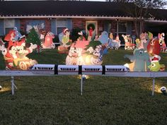 this is someones front lawn with decor to replicate christmas at disney disneychristmas disneyxmas disney christmas holiday xmas