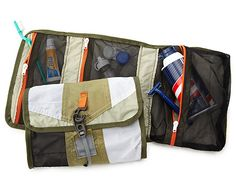 Made from reclaimed fabric discarded in the manufacture of tents, this Upcycled Tent Dopp Kit from Uncommon Goods is a great way for Dad to organize his stuff. #fathersday #eco #upcycle