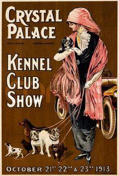 Vintage dog show poster ~