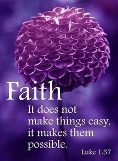 Praise The Lord...Faith has more power than we can ever hope to understand.
