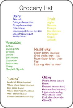 Great tips for healthy and inexpensive grocery shopping  by The Baking Dietitian. Plus an awesome sample grocery list!