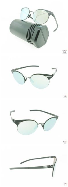 Other Unisex Eyewear 179246: Ic! Berlin Sunglasses Carla L Black Matte Round Metal Frames Silver Mirrored -> BUY IT NOW ONLY: $279 on eBay!
