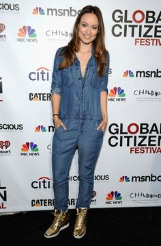 Pin for Later: LBD vs. LWD: It Was a Battle of the Neutrals on the Red Carpet This Week Olivia Wilde Olivia Wilde in Current/Elliott at the 2014 Global Citizen Festival.