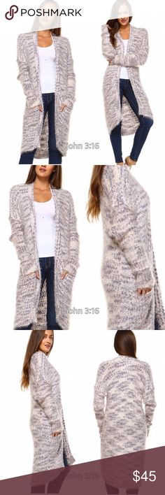 Warm long cardigan sweater Fall/winter must have - thus open fury and plush cardigan sweater is amazing...so side and will keep you warm. 55% ramie 45% cotton - price is firm✔️ Sweaters Cardigans