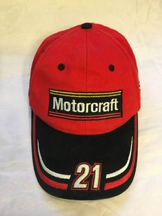 Vintage Motorcraft US Air Force NASCAR racing hat Ricky Rudd  21 One Size  Rare! 751cc6cef