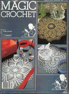 Magic Crochet Nº 23 - Rosio Llamas - Album Web Picasa.many Magic Crochet folders in album. Crochet Doily Patterns, Crochet Motif, Crochet Designs, Crochet Doilies, Crochet Lace, Filet Crochet, Crochet Chart, Crochet Books, Thread Crochet