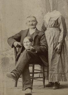 1800s:  Victorian headless photographs