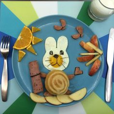 Bunny and her blanket, kid's food art