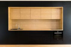 Wood Credenza for Kitchen, a solution that makes all the difference! Kitchen And Bath, Kitchen Dining, Kitchen Decor, Long Kitchen, Kitchen Sink, Open Space Living, Living Spaces, Black Kitchens, Home Kitchens
