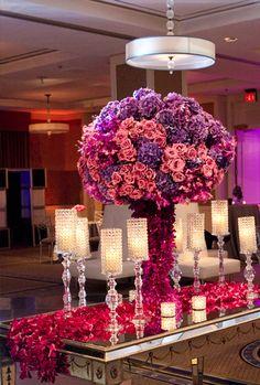 Bella Flora event design. I like this flower table runner