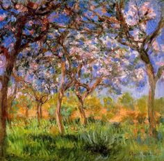 Giverny in Springtime. 1899-1900, Claude Monet