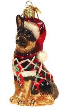 German Shepherd Christmas Ornament - NEED!
