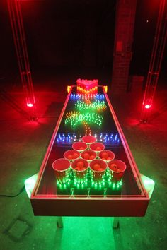 c3bcd42330d Take beer pong to the next level with this LED light up tables that can  sense your cups and hover your balls