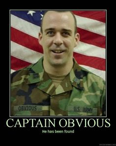 of course captain obvious is an american!!