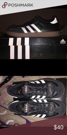 Chico Adidas indoor soccer zapatos naranja, ROJO & negro Boys Indoor