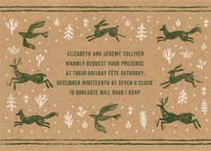 Winter Chase - Greenwood - online at Paperless Post Paperless Post, Christmas Party Invitations, Digital Invitations, Tool Design, Rsvp, Holiday, Cards, Winter, Winter Time
