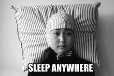Sleep anywhere hat…