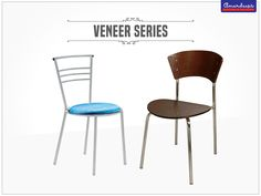 Mixture of superior wood and high-quality metal, these chairs brighten up your space. #Furniture