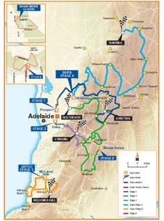 Tour Down Under, stages