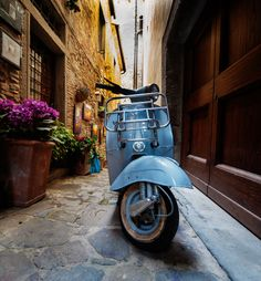 Old Vespa by alessandro giovanelli - Old vespa. This shot has been taken in Cortona, Tuscany