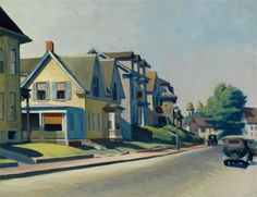 "Edward Hopper, ""Sun On Prospect Street (Gloucester, Massachusetts), 1934"