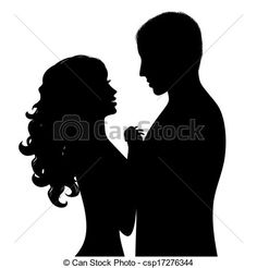 EPS Vector of Silhouette a happy couple - Silhouette a happy ...