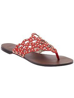 Love these red sandals! Vince Camuto Elian