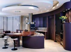 Super Deluxe Kitchen Interior Design with Dark blue - Interior Design | Exterior Design | Office Design | Home Design