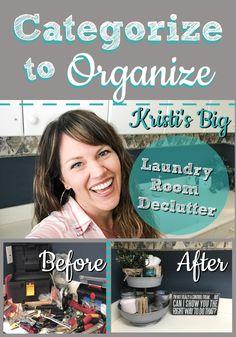 Categorize to Organize: Kristi's Big Laundry Room Declutter