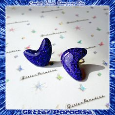 Confetti Lucite Atomic Boomerang Blue by GlitterParadise  Just Listed now in the official Etsy Shop  http://ift.tt/2joio4t