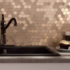 Picture of Aspect Honeycomb-Champagne-Matted Backsplash