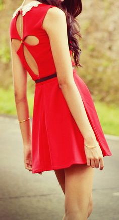 Petal cut out dress