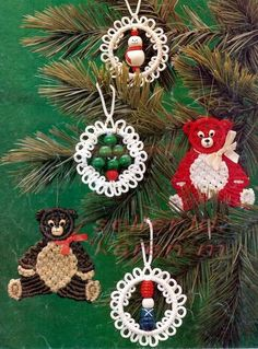 macrame Christmas ornaments - Google Search