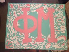Canvas I made! Inspired by and ADPi canvas I saw on here