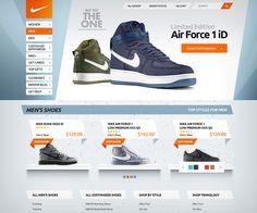 web-design website site nike orange tonic vivid blue shoes