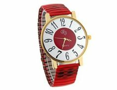 Tanboo Round Dial Quartz Movement Women's Wrist Watch (Red) by Tan Watches. $9.99. Compact and cool.. Stainless steel rugged case and comfortable band with adjustable length for perfect fit.. Analog display with three hands for precise time.. Quartz movement.. Easy to read digital display.. Compact and cool.Quartz movement.Easy to read digital display.Analog display with three hands for precise time.Stainless steel rugged case and comfortable band with adjustable l...