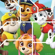 Activités Pat Patrouille - La Fée Biscotte- Puzzle pat patrouille Preschool Worksheets, Preschool Learning, Preschool Art, Preschool Activities, Paw Patrol Birthday Cake, Paw Patrol Party, Puzzles For Toddlers, Math For Kids, Dog Themed Parties
