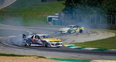 Making history - the first time the Esses at Road Atlanta were used for drifting. (Nissan S13s) [4590x2499] [OC] - see http://www.classybro.com/ for more!