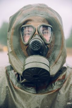 German Chemical Battalion soldier in Latvia wearing a hazmat suit [3456 x 5184]